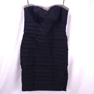 Torrid Strapless Little Black Bodycon Dress Beaded